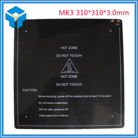 3D Printer Parts 1PCS Black MK3 Hotbed Latest Aluminum Heated Bed For Hot Bed Support 12V