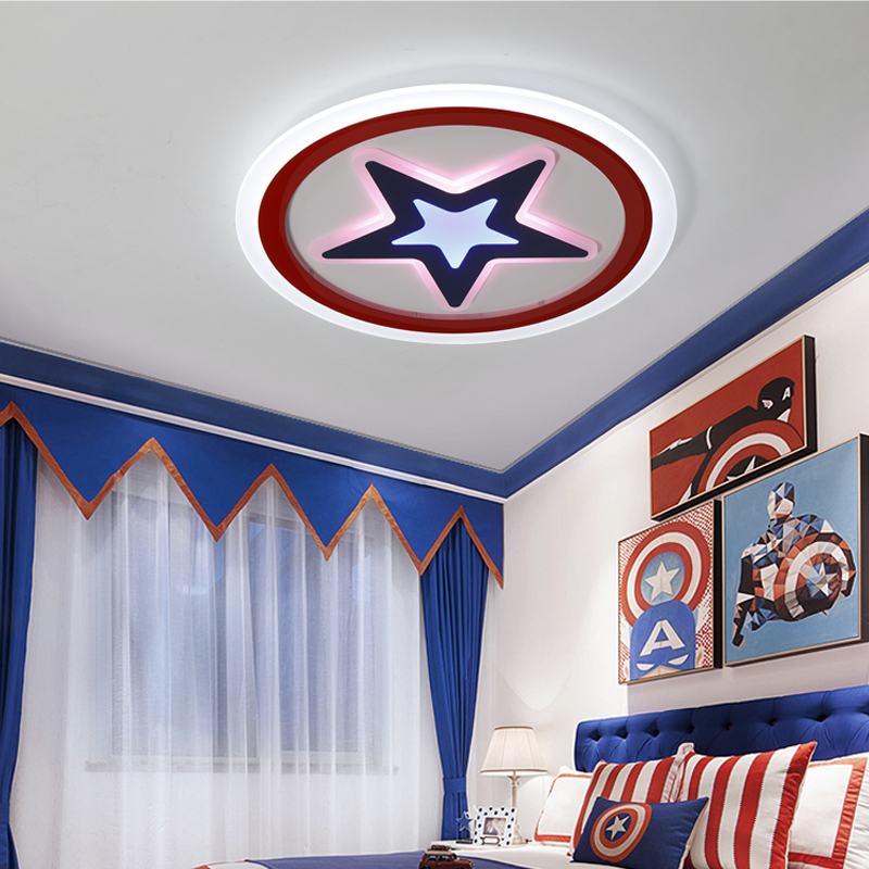 AC85~260V star lampara de techo children room bedroom decor lighting ceiling lamp for baby Modern Kids Room LED Ceiling Lights noosion modern led ceiling lamp for bedroom room black and white color with crystal plafon techo iluminacion lustre de plafond