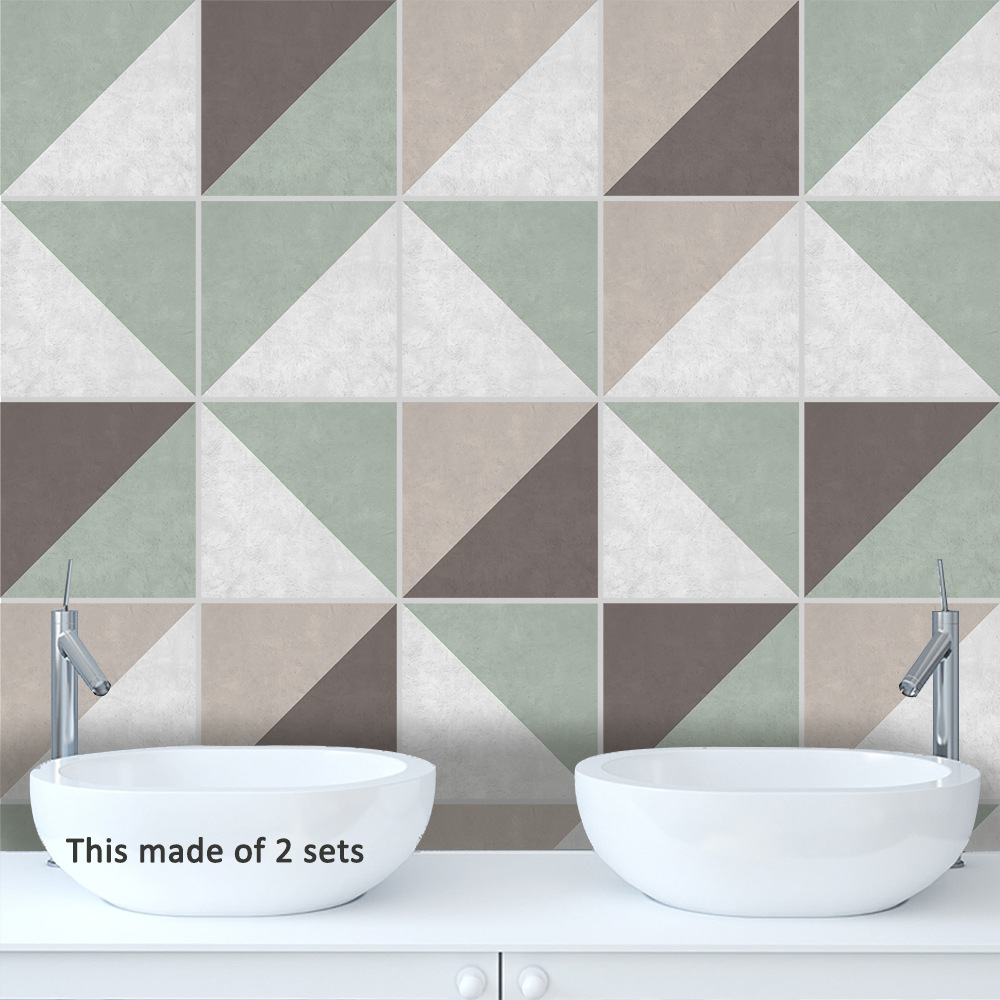 US $7.99 40% OFF|Funlife Creative Design Tiles Wall Sticker,Modern Home  Decor Bathroom Living Room,Self adhesive Waterproof Decorative Stickers-in  ...