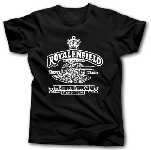 Royal Enfield T shirt men Motorcycle Biker Vintage Classic 100% cotton tee USA size S-3xl new