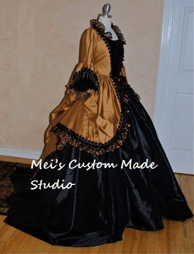 Custom Made Period Stage Dresses Gothic Marie Antoinette Fantasy Gown Costume