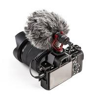 Compact On Camera Video Microphone Interview Recording Mic for Smartphone Camera