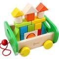 Детская DIY деревянные цвет твердой древесины блоки 1 - 3 - 6 - год - маленьких детей сопротивления автомобиля игрушки