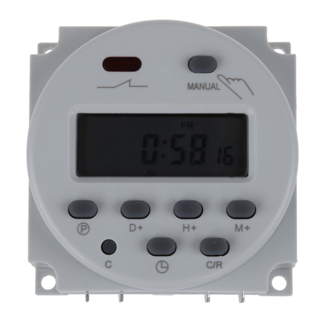 Digital LCD programmable timer switch 16A AC 220-240 White ifree fc 368m 3 channel digital control switch white grey