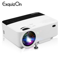 Exquizon T5 HD 1080P projector 1920*1080 Resolution Multi screen Interaction For Phone Home Cinema 1800 lumen LCD Projector HDMI