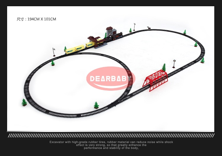 Electric train toys Super long track set with light sound Classic/Modern locomotive train toys for children boys gift - 5