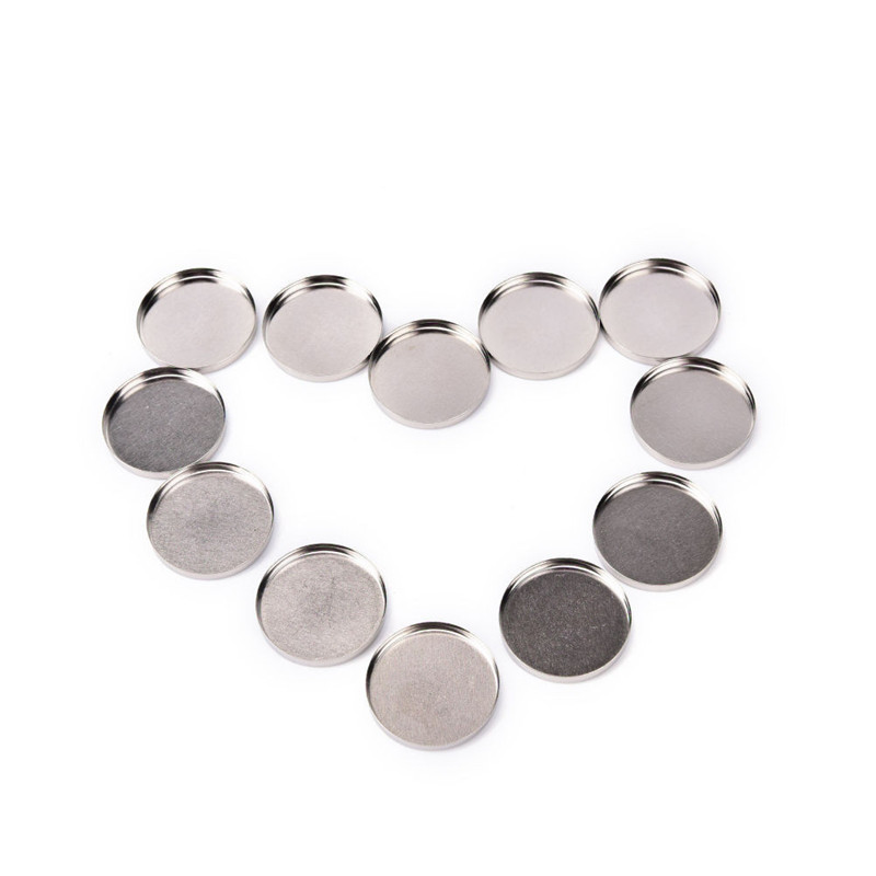 2019 Newly Round Tin Pan Palette 12pcs Empty Round Tin Pans For Powder Eyeshadow 26mm Responsive To Magnets Drop Shipping 30p118