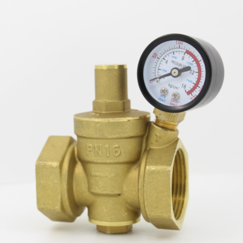 DN15 DN20 DN25 DN32 DN40 Brass Water Pressure Reducing Valve Adjustable Valves With Pressure Gauge Adjustable Relief Valve dn25 1 pressure gauge pressure maintaining valve brass water pressure regulator reducing relief valves with manometer