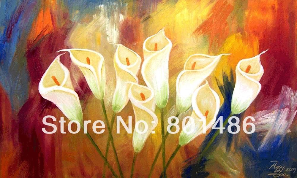 Beautiful hand painted calla lily drawing oil painting best home ...