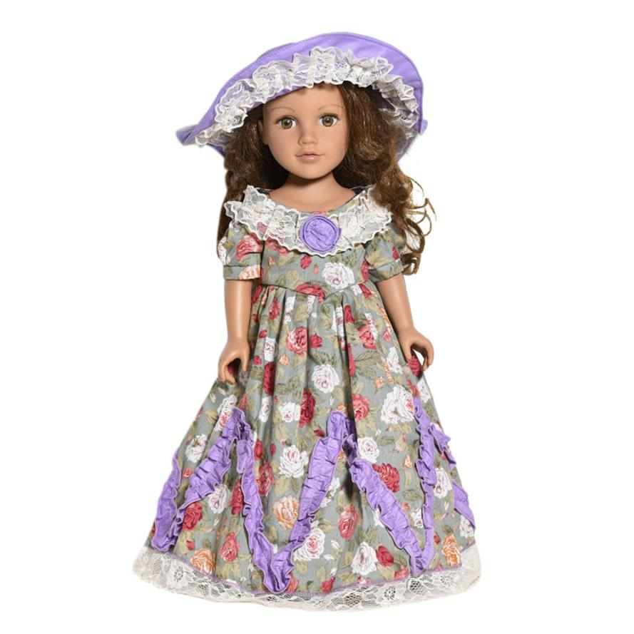Mooistar #4005 DIY Doll Clothes Dress For 18 inch Doll Baby Kids Dress Skirt Party Clothes