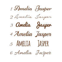 Personalized Kids Name Vinyl Wall Sticker Custom Name Decor Nursery Bedroom Decals Removable Art Mural For Baby Living Room N001