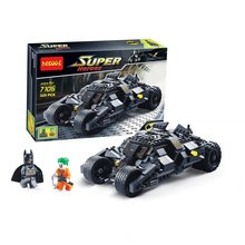 Decool 7105 325 pcs Justice League The Batmobile Tumbler Batman Superheroes Blocos definir Brinquedos Apto para Legoings filme do Batman(China)