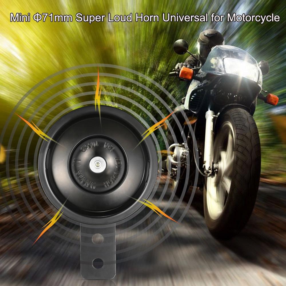 Wacent Corno per Moto 12V Corno per Auto Super Forte 105dB Scooter Ciclomotore Dirt Bike ATV Tromba dAria per Moto 65mm A24