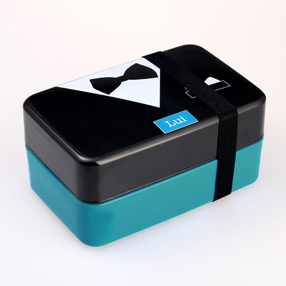 Контейнер Bento для обеда контейнеры для обедов кухонные принадлежности 730 мл двухслойный модный пластиковый Ланч Бокс портативный изолированный ланч - Цвет: 3