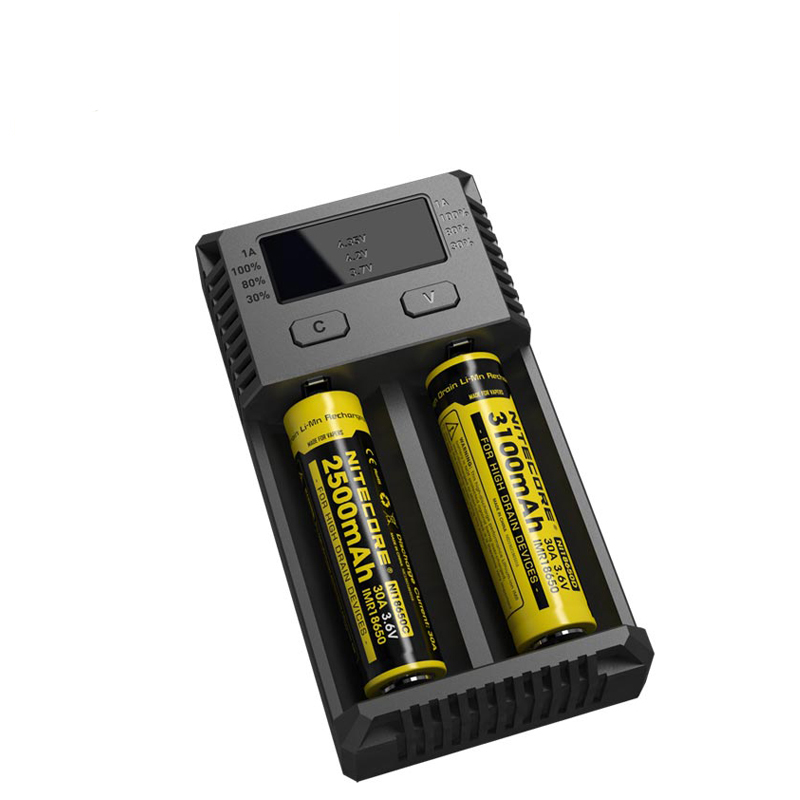 NITECORE NEW i2 Intellicharger Battery Smart Charger for Li-ion/IMR Nicd 16340 10440 AAA 14500 18650 26650 batteries