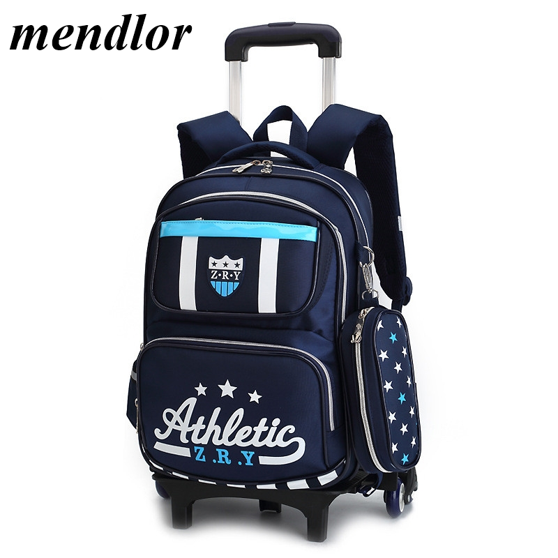 Children School Bags with 3/2 Wheels Removable Kids Child Trolley School Bag Boys Girls Rolling Backpack Wheeled BookbagChildren School Bags with 3/2 Wheels Removable Kids Child Trolley School Bag Boys Girls Rolling Backpack Wheeled Bookbag