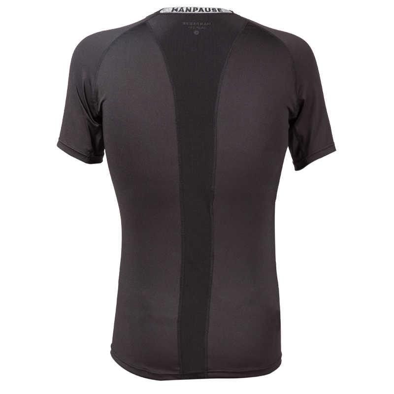 新到着 KANPAUSE 男性のタイツ Tシャツ半袖トレーニング Tシャツフィットネススポーツウェア