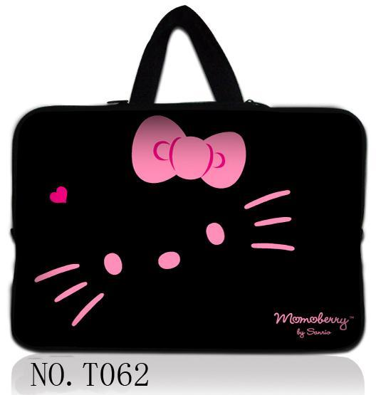 Hot Black Cat 10 12 13 14 15 17 Portable font b Laptop b font Bag