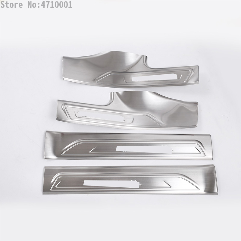 4pcs Stainless Steel Car Inner Welcome Door Sill Protector Plate Cover Trim For Maserati Levante SUV 2016 Styling Accessories in Interior Mouldings from Automobiles Motorcycles