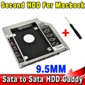 "Во-вторых HDD Caddy SATA 2.5 ""жесткий Диск SSD 9.5 мм Корпус для Apple Macbook Pro Air A1278 A1286 A1297 DVD CD ROM Bay"