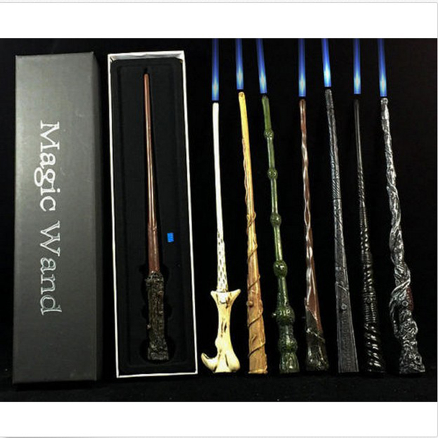 LED Harry Potter Wand Illuminating Wand Hermione Dumbledore Ron Voldemort Magic Wand In Gift Box 16 Stytles Halloween Gift