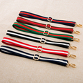 4 Metal Colors! Replacement 2.5cm Striped Shoulder Strap for Mens, Womens Handbags DIY Adjustable Nylon Bags Straps Belts