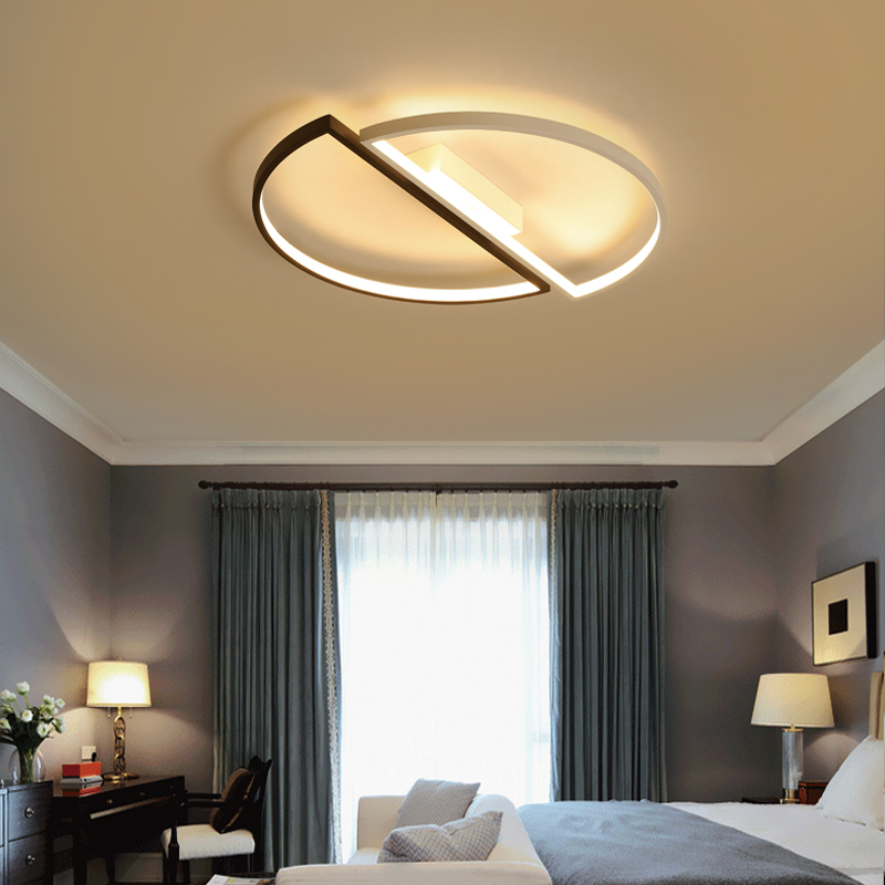 Image 4 - modern led ceiling lights For Living room dining room bedroom warm  creative study personality simple round ceiling lamp-in Ceiling Lights from Lights & Lighting