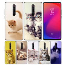 Phone Pattern Black Rubber Soft Silicone Case Bag Cover for Redmi 7A Note 7 6 7S Y3 K20 Pro Core Shell Animal More Cute Fox Cat(China)