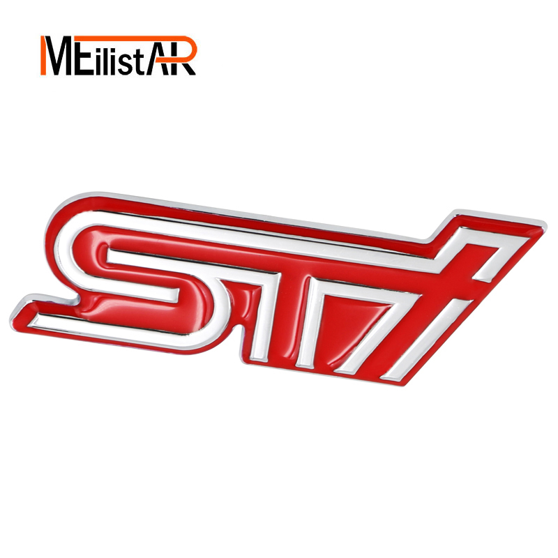 3D Car Styling Aluminum STI Sticker Decal Emblem Badge Sticker For SUBARU LEGACY Forester Outback Rally WRX WRC Impreza auto front grille grill badge emblem fit for wrc red rally impreza foreater sti wrx