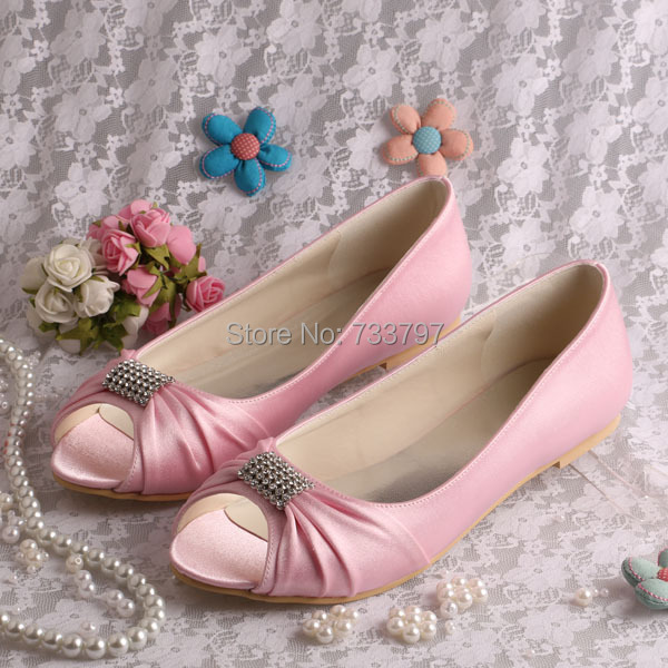 (20 Colors)Made To Order Ballet Flats For Women Wedding Shoes Flats Pinks Dropship