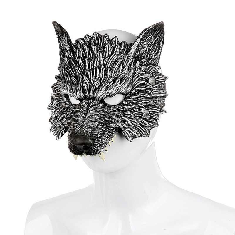 الرهيب هالوين 3D الحيوان الرهيب قناع للكبار للجنسين قناع هالوين الخيال تأثيري زي كرنفال اكسسوارات