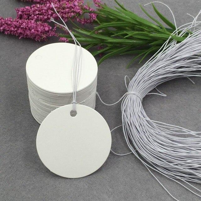 500pcs Retro kraft paper personalized custom small card round wedding tag sugar box name card accessories