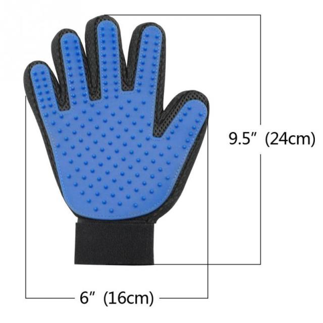 Pet Dog Cat Brush silicone Glove for Pet Grooming Massage Bathing Brush Comb For Long and Short Hair