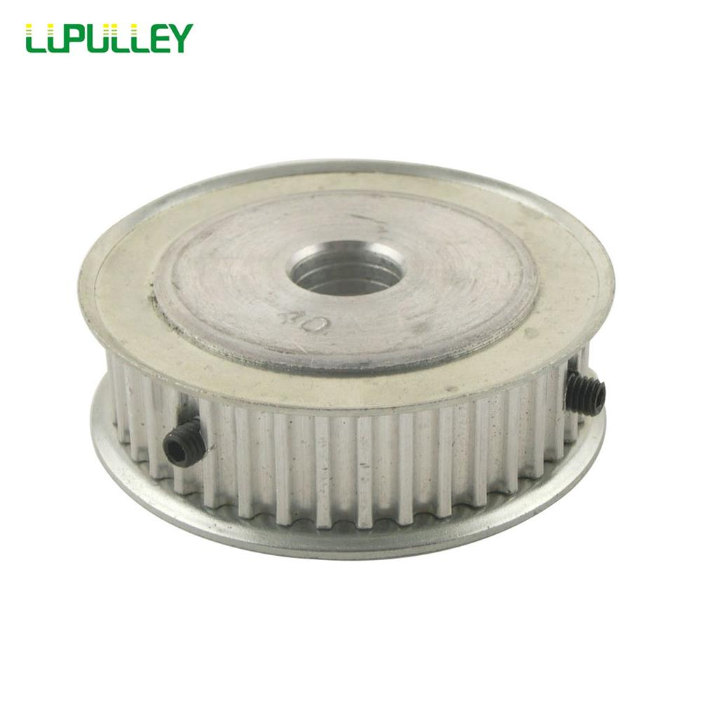 LUPULLEY 1 unid HTD5M 40 t dientes polea de correa de 6,35mm/6mm/8mm/10mm/20mm poleas para 15mm correa de aleación de aluminio