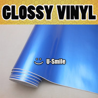 GLOSS PEARL BLUE GLOSSY Vinyl Wrap Decal Sheet Glossy Pearl Blue Self Adhesive Vinyl Size 1