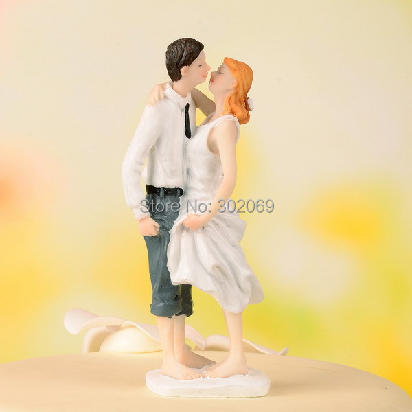 Beach Theme Wedding Cake Topper Resin Wedding Party Favors 1set-in ...