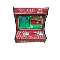 22 Inch LCD Desk Arcade Game Machine With 645 In 1 Game Board 2 Player Chrome