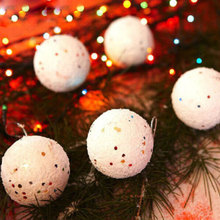 SOLEDI 6PCS Foam Christmas Tree Snowball Hanging Decorations Gift Ornament Home Christmas Decorations For Home