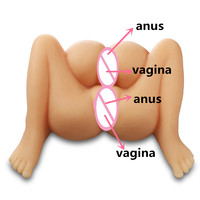 4 holes use . 2 pussy /vagina 2 butt ass anus full silicone sex doll , sex pictures,sex doll for man boys with double pussy