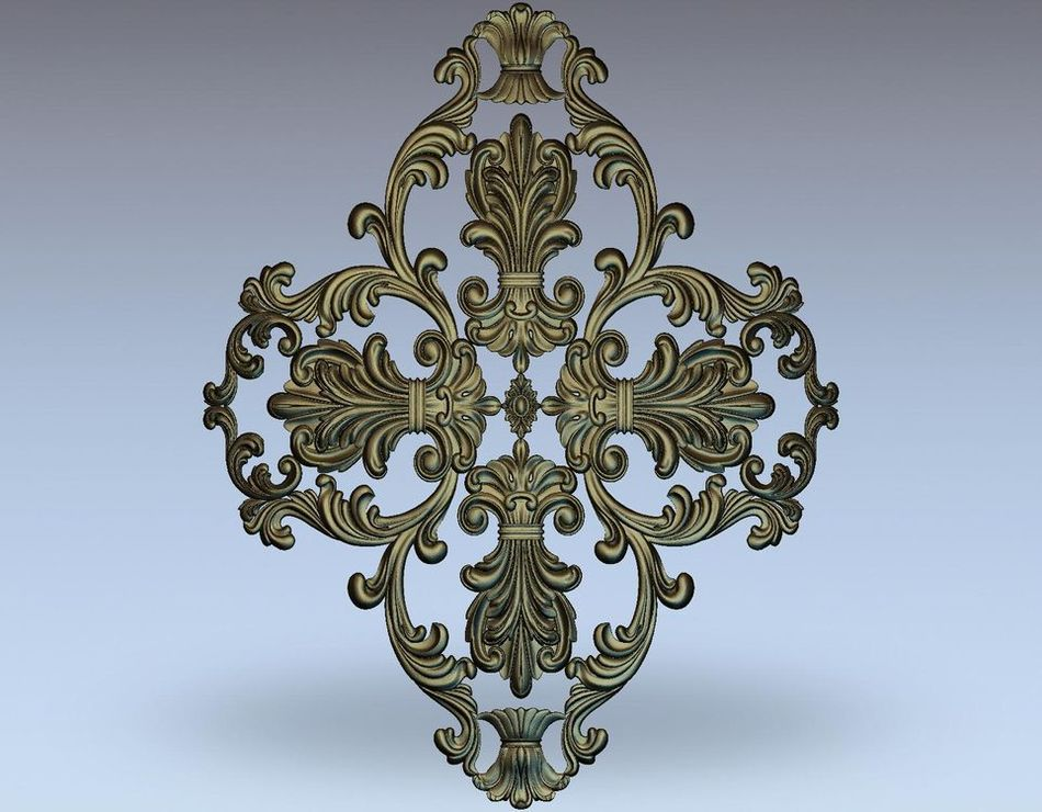 3d model relief  for cnc in STL file format rosette_42 panno hunting 2 for cnc in stl file format 3d model relief