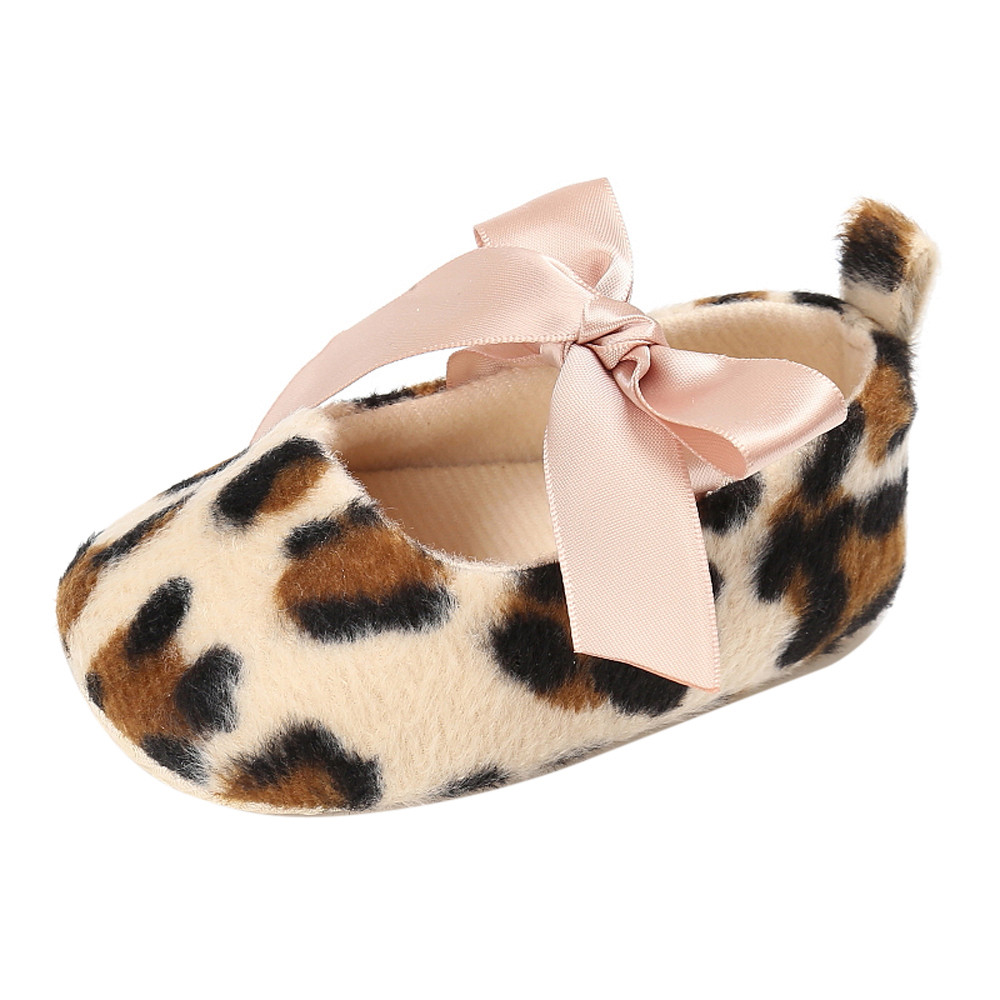NEW!!!TELOTUNY baby shoes winter Flock Leopard Soft Sole Anti-Slip newborn shoes a801 18