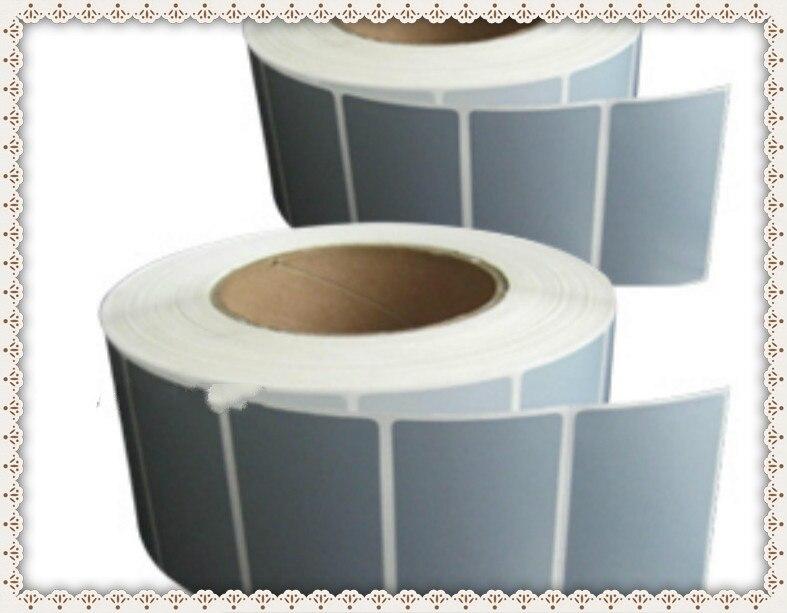 70*50*1000 single row silver PET barcode paper sticker matte silver waterproof sticker