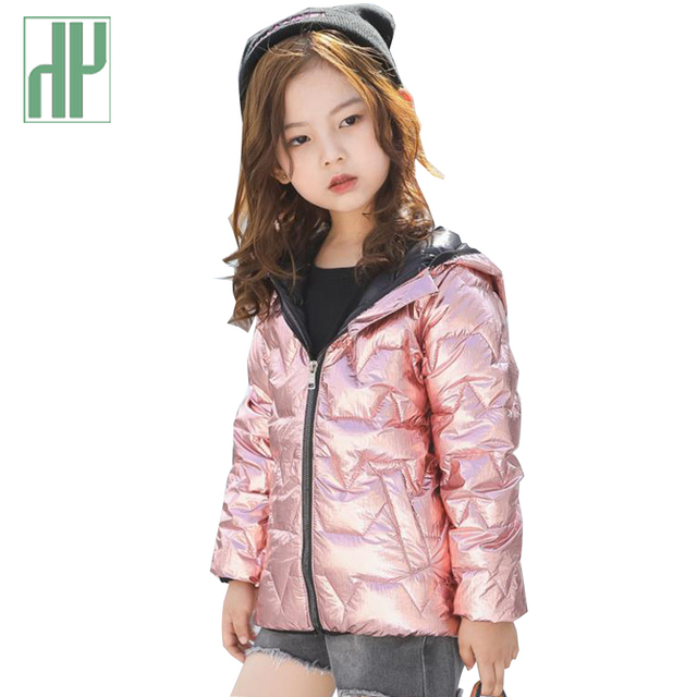 f24ed8995f92 HH Winter jacket for boy little girls coats contrast color Hooded ...