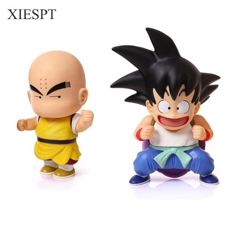 XIESPT Dragon Ball Z Figure Goku & Kuririn PVC Action Figures Toy Anime Dragonball Model With Color Box Free Shipping anime dragon ball z toy figure goku figures son goku pvc action figure chidren favorite gifts 15cm approx retail shipping