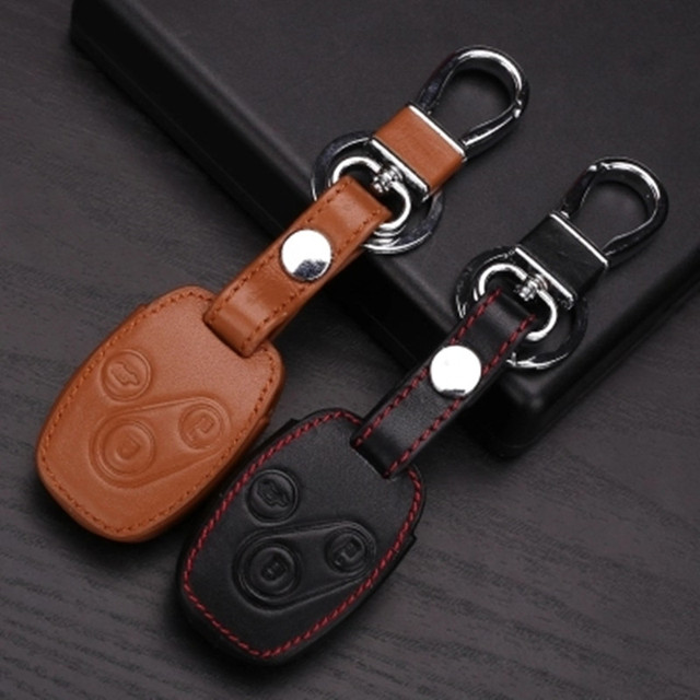 High quality Genuine Leather key chain ring cover case holder ,car styling For Honda CR-V Fit Pilot Honda Accord Civic 3 Button