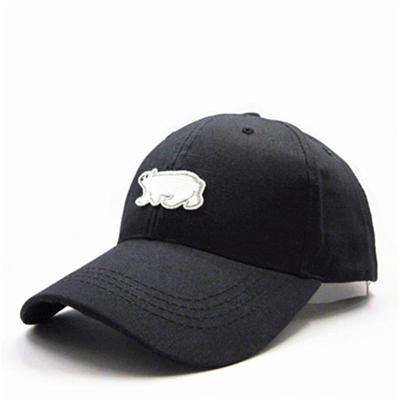 Polar bear animal embroidery cotton Casquette   Baseball     Cap   hip-hop   cap   Adjustable Snapback Hats for kids men women 157