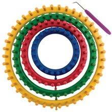 جديد 4 قطعة/المجموعة DIY جولة دائرة قبعة نيتير الحياكة المنوال كيت 4 حجم 14 سنتيمتر 19 سنتيمتر 25 سنتيمتر 30 سنتيمتر 8 XHC88