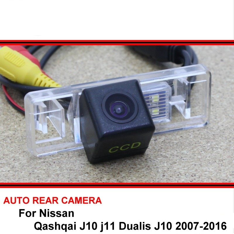 For Nissan Qashqai J10 J11 Dualis J10 2007-2016 Night Vision Rear View Camera Reversing Camera Car Back Up Camera HD CCD Vehicle