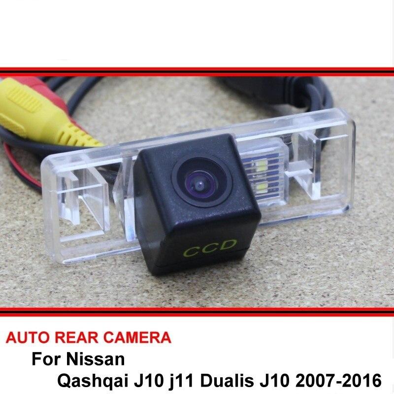 Para Nissan Qashqai J10 j11 Dualis J10 2007-2016 visión nocturna cámara de visión trasera cámara de marcha atrás para coche HD CCD vehículo HD 4K Mini WiFi IP Cámara Full HD DIY Mini cámara módulo soporte inalámbrico Hotspot detección de movimiento soporte de Vista Remota tarjeta TF