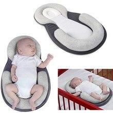 Детские стереотипы Подушка для новорожденного младенца анти-опрокидывающийся Матрас Подушка для 0-12 месяцев детский спальный позиционирующий коврик хлопковая подушка